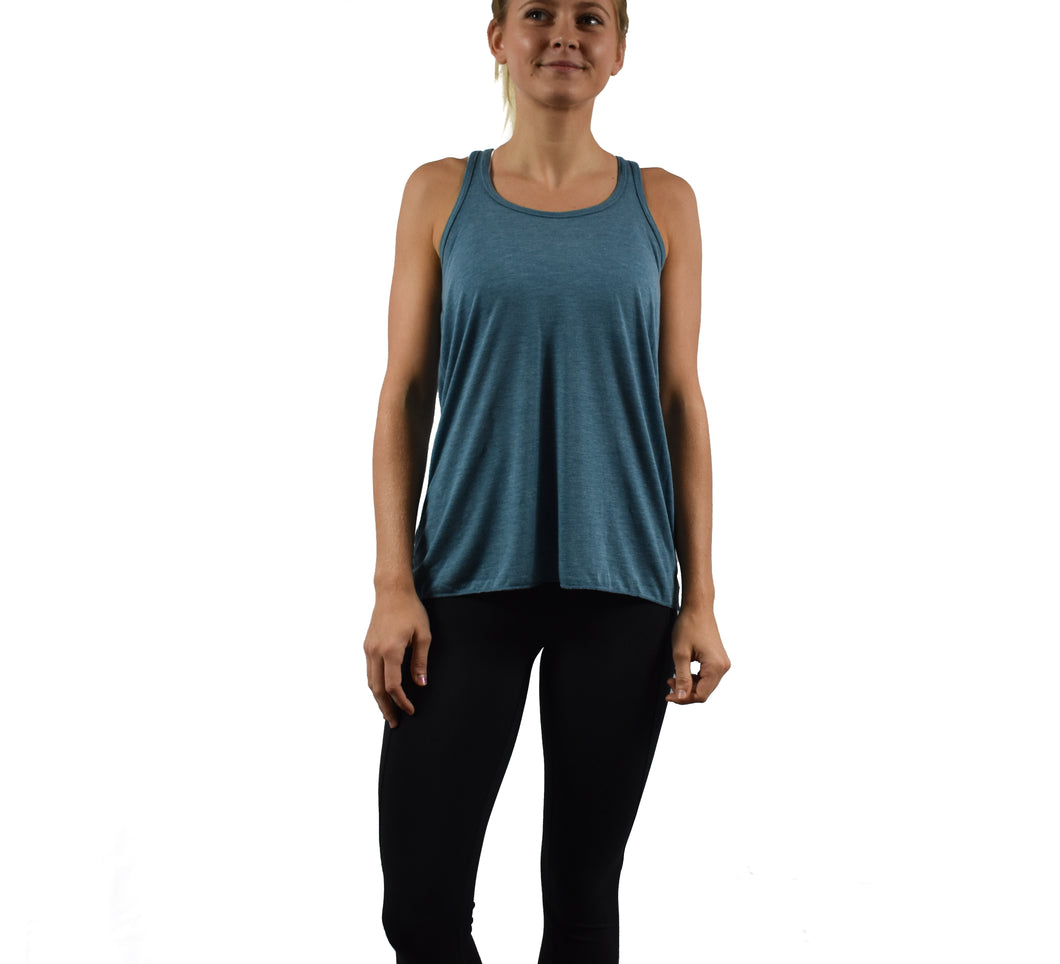 Women's Fitness Tank Top Teal Front