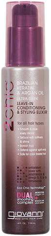 Giovanni 2chic Brazilian Keratin & Argan Oil Ultra-Sleek Leave-in Conditioning & Styling Elixir