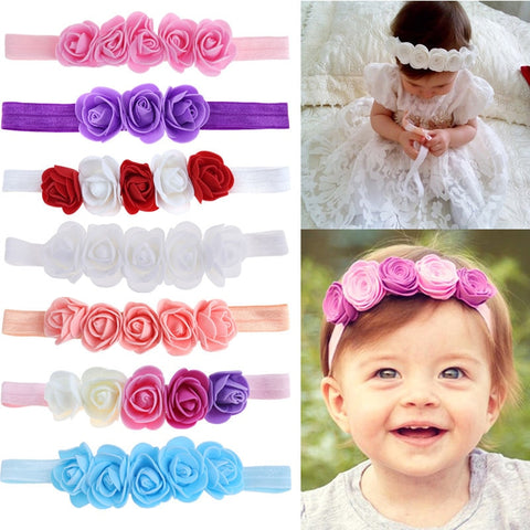 Beautiful & Decorative! Rose Ribbon Hair Wreaths