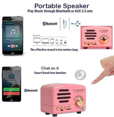 Retro Multimedia Bluetooth Speaker