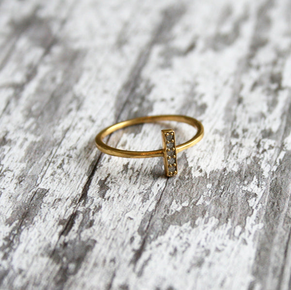 Dainty Gold Jewelled Ring