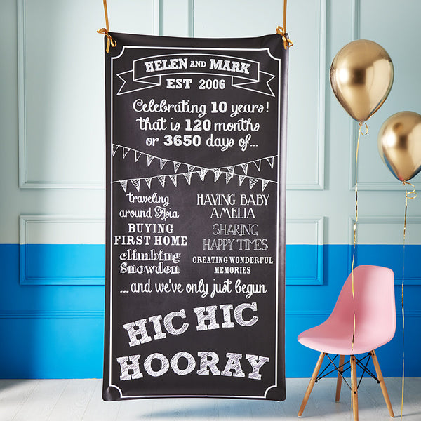 Limited Edition Personalised Anniversary Backdrop