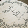 Personalised Wedding Name Wood Print