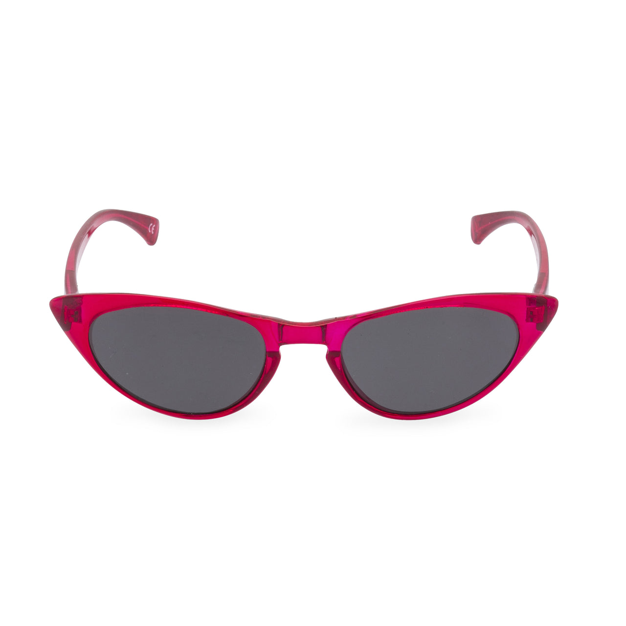 50s style red cateye sunglasses front view