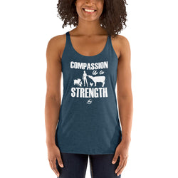 Compassion Is A Strength - Women's Racerback Tank