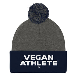 Vegan Athlete Pom Pom Knit Cap