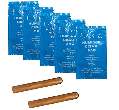 5 Pack FESS Products Travel Pouch Cigar Bag Ziplock Humidor Humidifier, , FESSONLINE, FESSONLINE