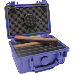 F.e.s.s. Armour Blue Travel Cigar Humidor Capacity Up To 15 Cigars, , m4wholesale.com, FESSONLINE