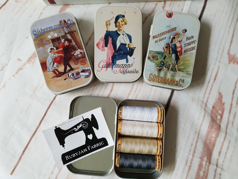 Gutermann Nostalgia Tins - with 4 spools of thread