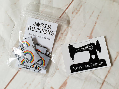 Made with love and rainbows - Labels by Josie Buttons