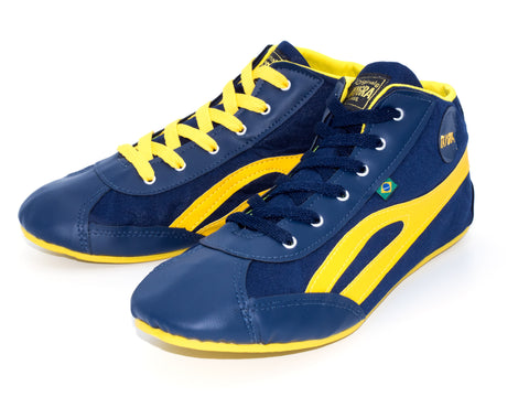 Unisex High Top Blue & Yellow Dance Sneakers