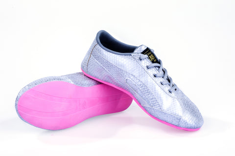 Unisex Classic Silver & Pink Dance Sneaker