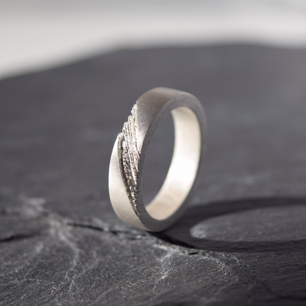 Men ring inspired by earth, nature inspired ring