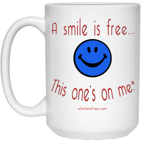 21504 15 oz. White Mug Smile America BRW