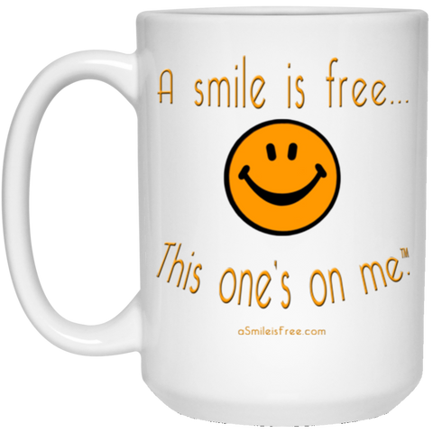 21504 15 oz. White Mug Pumpkin Smile