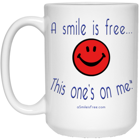 21504 15 oz. White Mug Smile America RBW
