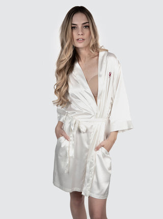 Satin Robe - White