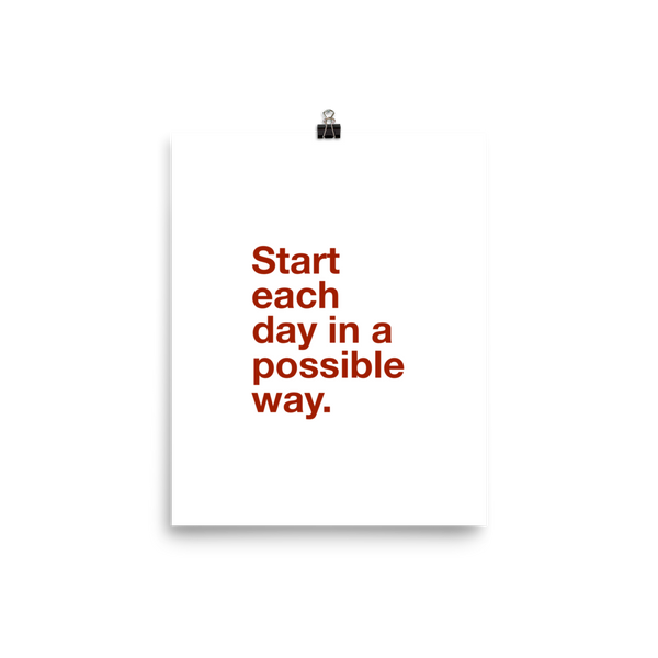 Start each day in a Possible Way