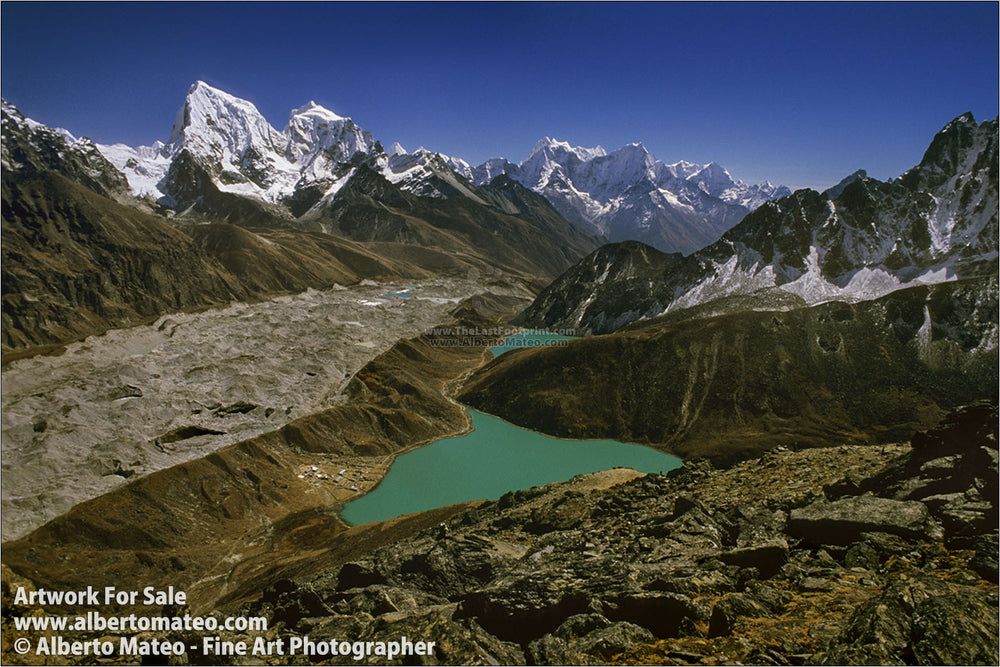 Aerial view from Gokyo Lakes, Himalaya, Nepal.