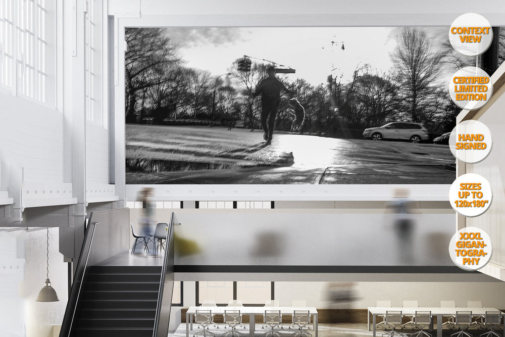 Jumping Dog, Central Park Avenue, New York. | Giant Print view.