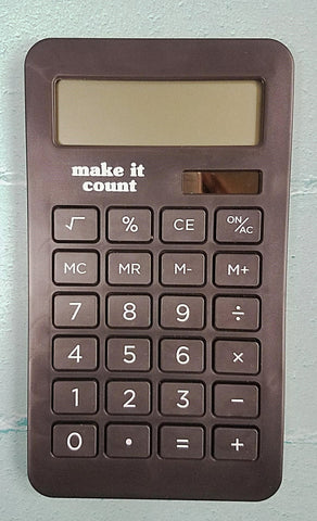 Calculator Black - Make it Count - Olipikapa