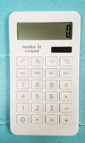 Calculator White - Make it Count - Olipikapa