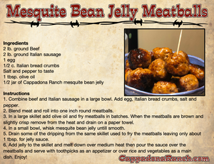 Mesquite Bean Jelly Meatballs