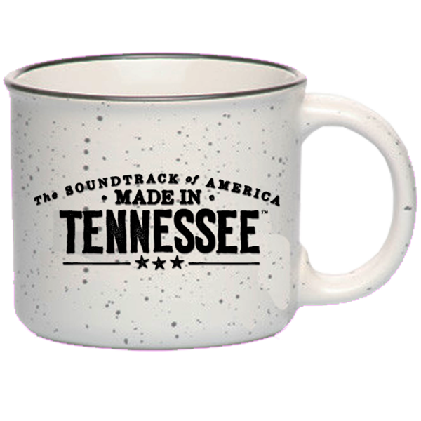 The Soundtrack of America Made in Tennessee Campfire Coffee Mug - Speckled White