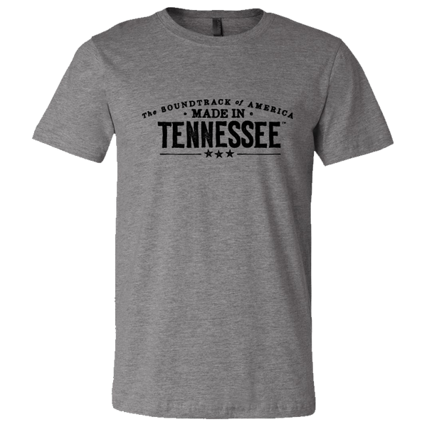 The Soundtrack of America Made in Tennessee T-Shirt - Track Grey