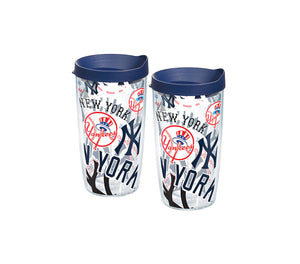 MLB® New York Yankees™ All Over and Colossal Wrap With Travel Lid 2-Pack Gift Set - Boxed - AtlanticCoastSports