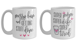 Super Mom 15 oz Coffee Mug Bundle