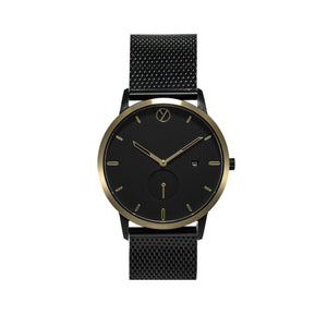 WHY Watches mens / womens watches australian designed by architects black leather mesh metal