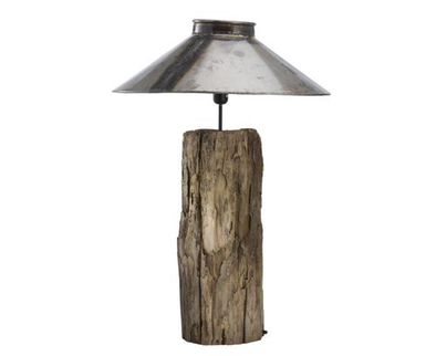 130002 Aspen Lamp w/ metal shade