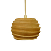 120058 Ridged Mango Wood Pendant