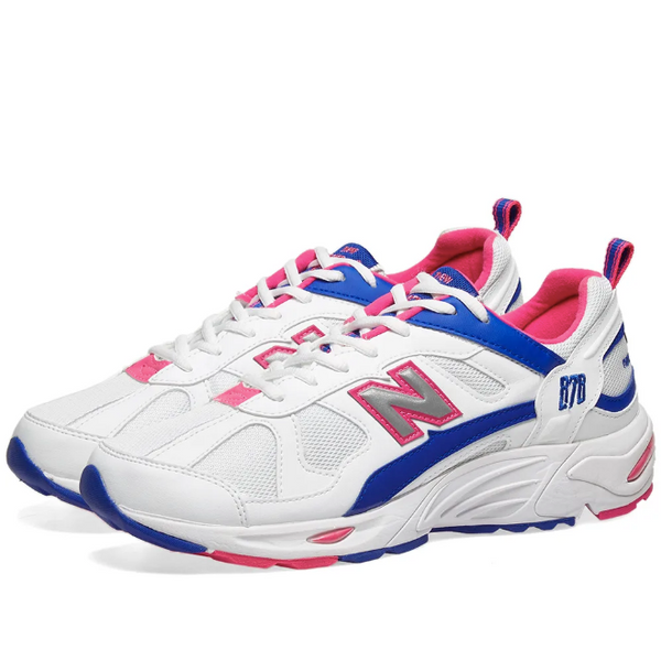 New Balance: 878 (White/Pink/Blue)