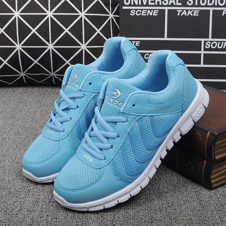 Fashion women sneakers breathable mesh running sports shoes