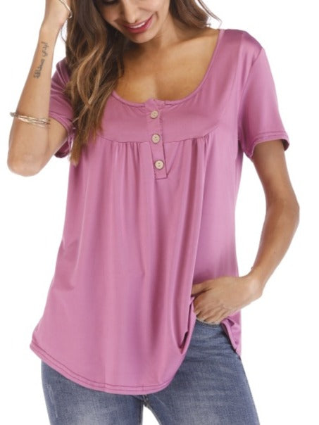 Summer Short Sleeve T-shirt Tops S - XXXL 10 Colors For Choices