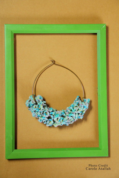 Spring Floral Fabric Necklace
