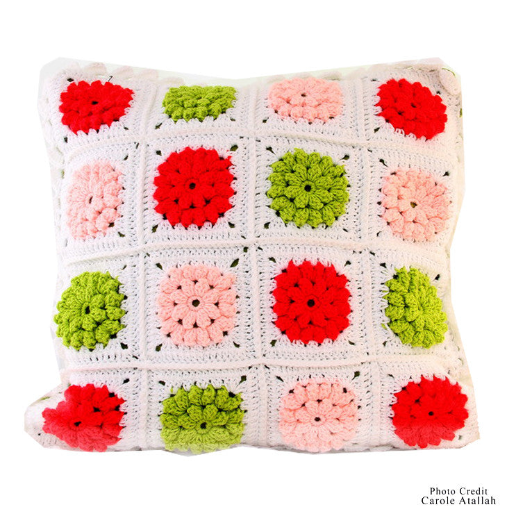 Pink Knitted Pillow Case