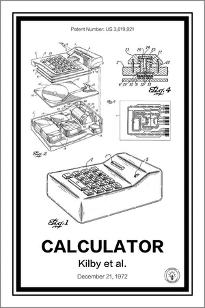 Electronic Calculator Patent Print - Retro Patents