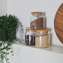 Coffee/Tea/Sugar Jars with Twine 500ml