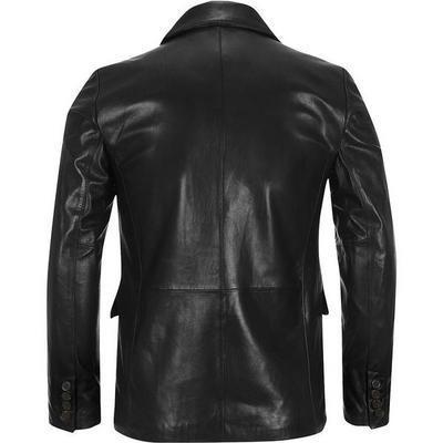 Tabuk Mens Leather Coat - fadcloset