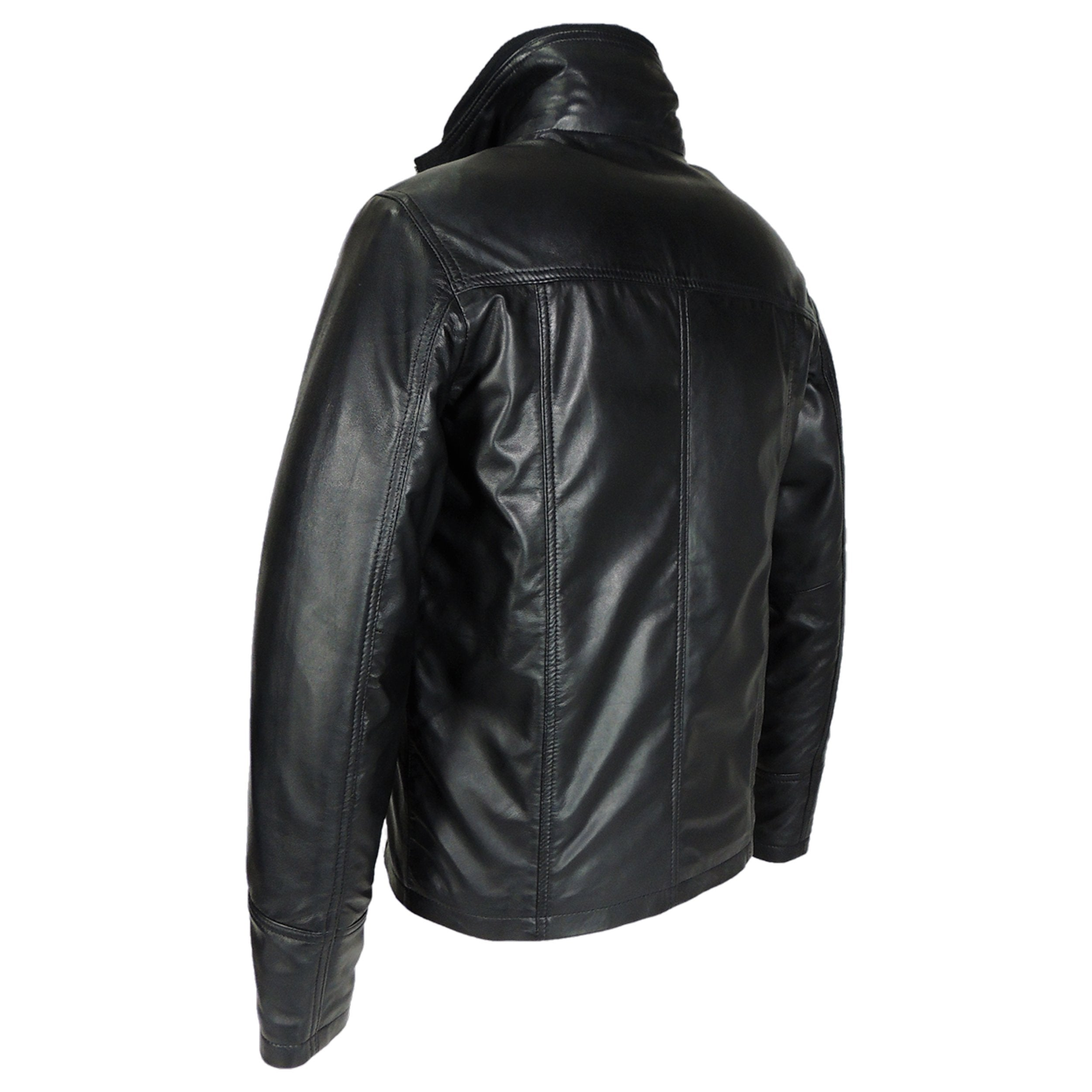 Mens Oxford Csaba Leather Jacket - Discounted! - fadcloset