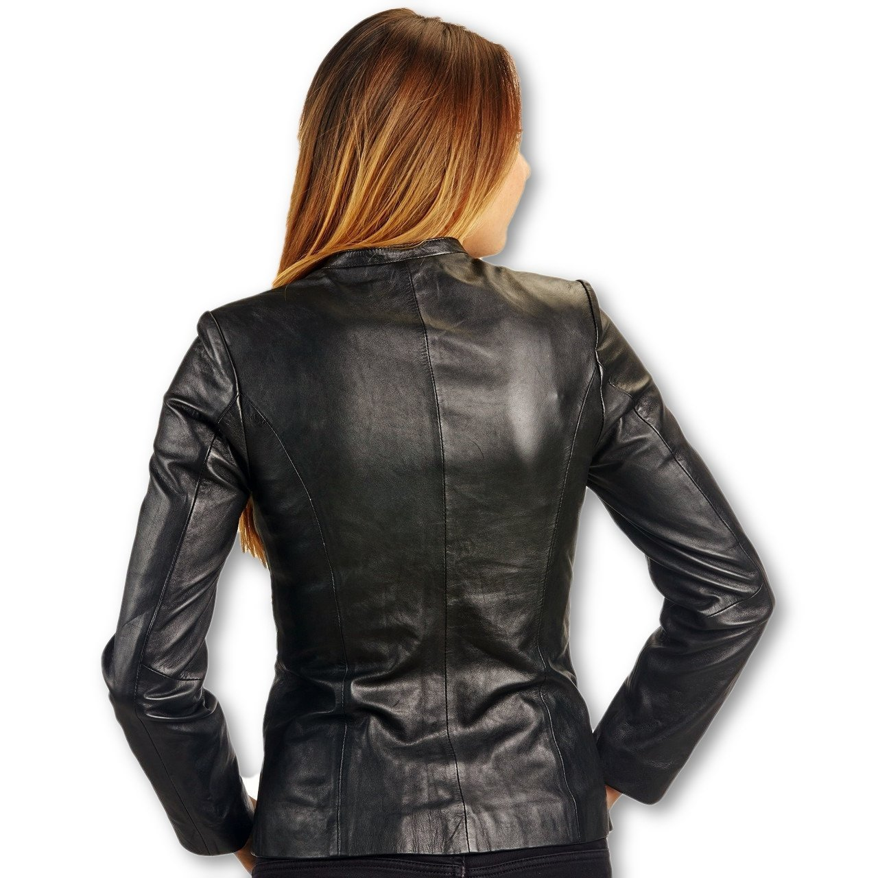 Womens Classic Jessica Lambskin Leather Jacket - fadcloset