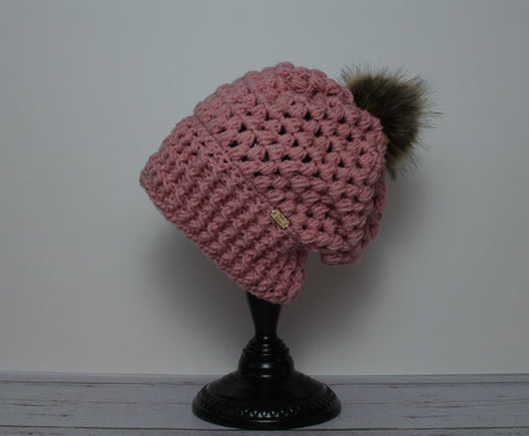 Piper Slouch Beanie - Pink