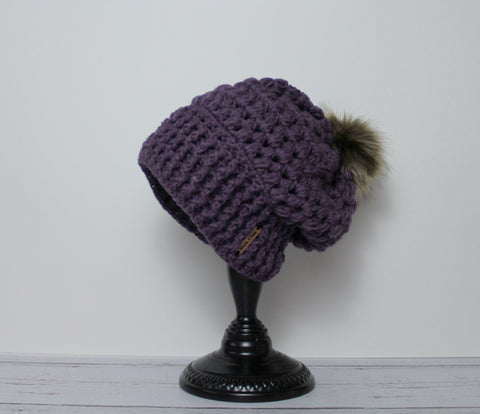 Piper Slouch Beanie - Lilac