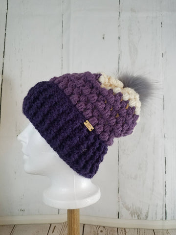 Piper Slouch Beanie - Purple TRICOLOR
