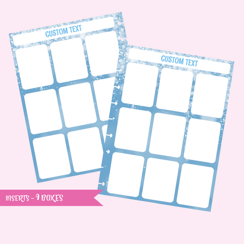 inserts - 9 boxes | double-sided - pack of 10 | The Happy Planner - classic mini micro | IN-107