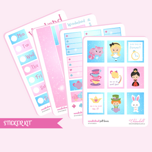 alice in wonderland sticker kit | ECLP vertical | KIT-VLP-WND