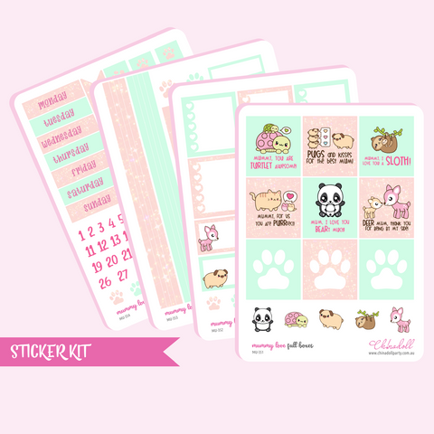 mummy love weekly sticker kit | ECLP horizontal | MU-351 to MU-354